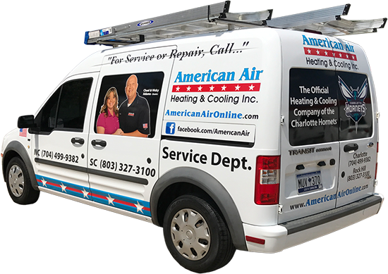 American Air Heating & Cooling van for heating and air repair services
